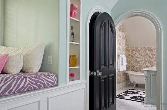 Black Arched Interior Doors For Bathroom Home Doors