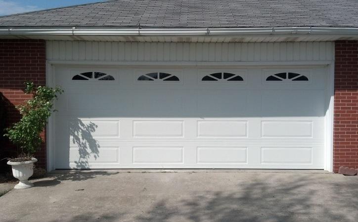 White sherwood garage door window inserts
