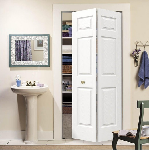 Closet with six panel interior doors