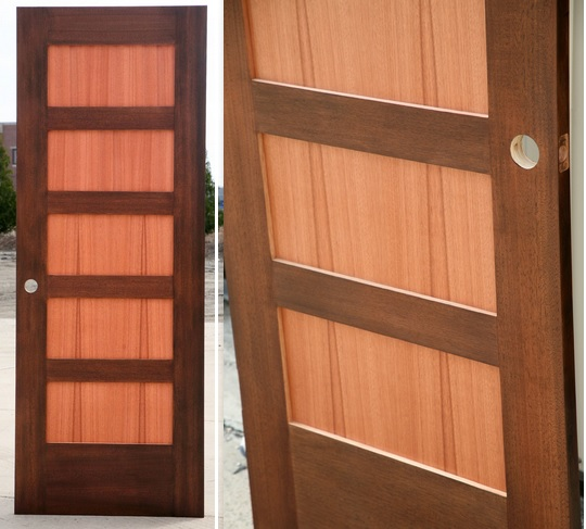 Dark Walnut With Natural Panels Shaker Style Interior Doors Home