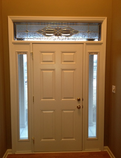 Entry door with six panel interior doors