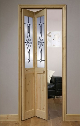 Living Room Bifold French Door With Glass