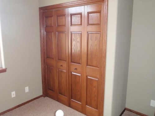 Traditional six panel interior closet doors