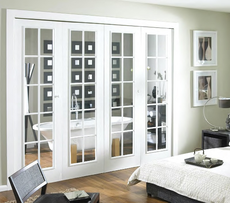 White painted folding french doors home doors design for White french doors