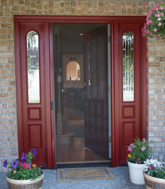 Single screen doors for french doors home doors design for Screen door for single french door