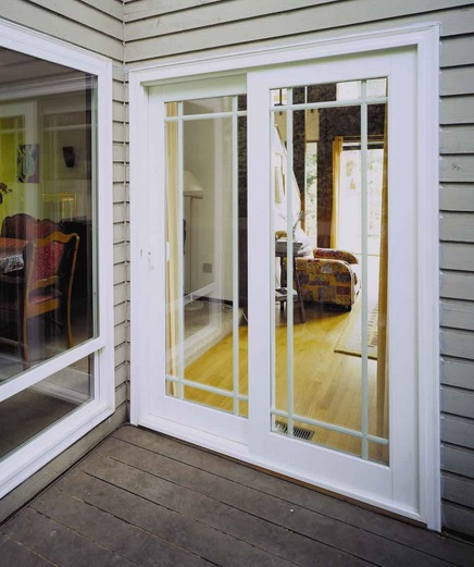 Patio with sliding vinyl screen doors
