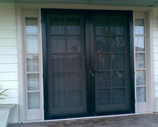 Black Double Screen Doors For French Doors Home Doors