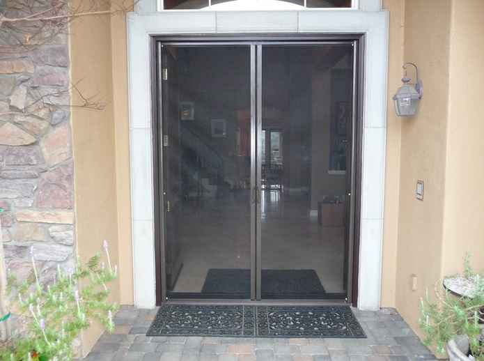 Double screen doors for double protection home doors for Double screen doors for french doors