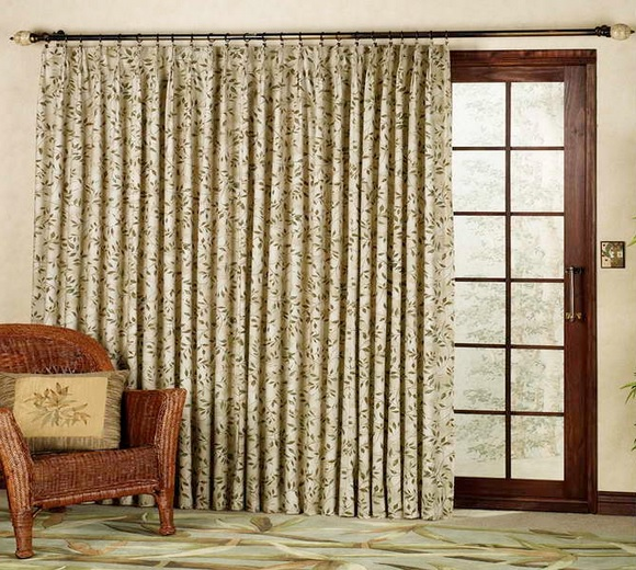 Accenting fabrics drapes for sliding glass doors