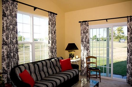 Choosing right drapes for sliding glass doors home doors for Multi panel sliding glass doors