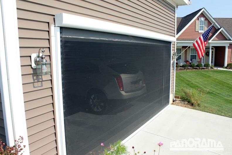 Automatic Retractable Garage Door Screen Kits Home Doors Design