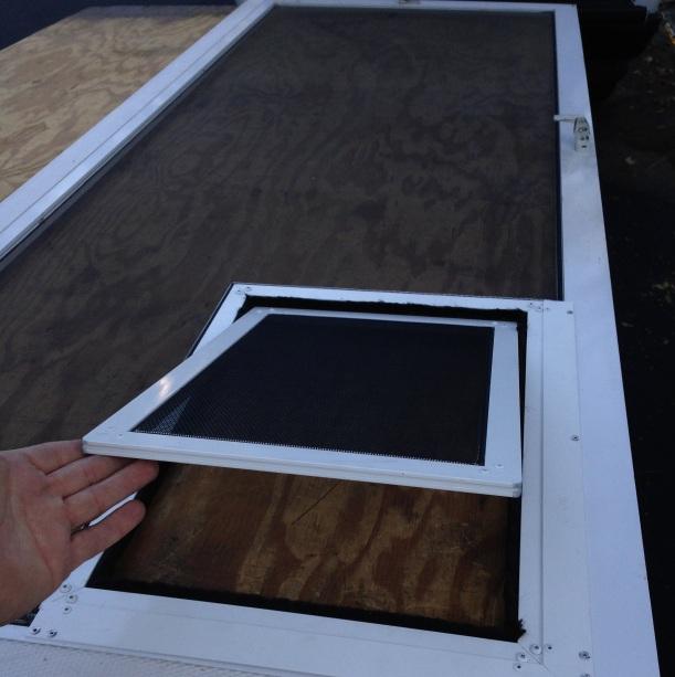 Door mount pet door for screen door