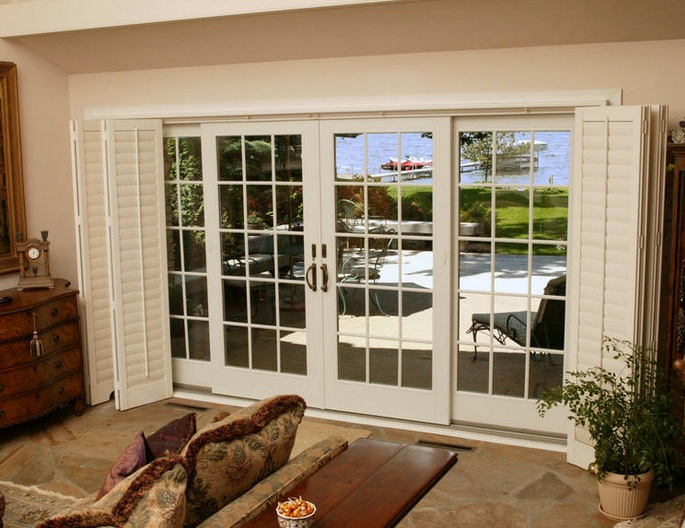 Double sliding french patio doors