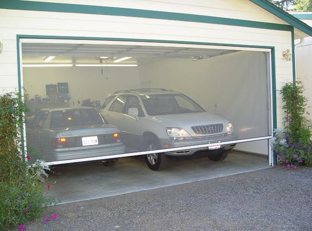 Garage door screen kits for medium to large opening