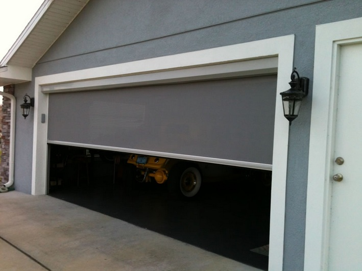 Garage door screen kits designs and styles home doors for Large garage kits
