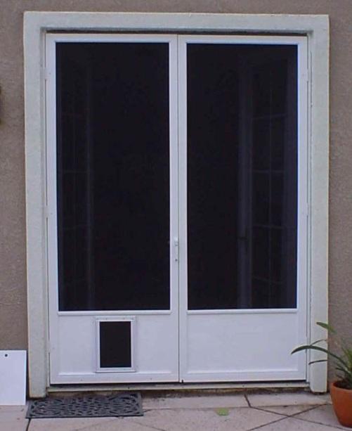 Screen Door with Pet Door Styles and Design To Improve