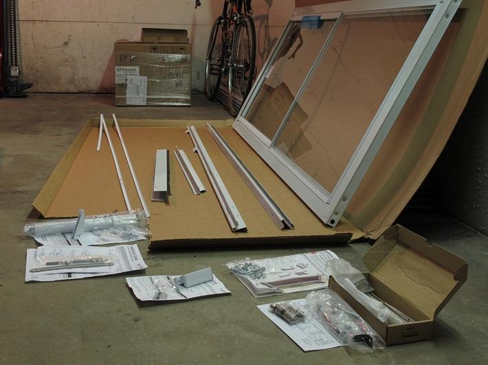 Sliding screen door parts installation