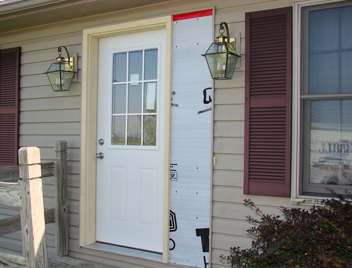 Small entry doors with beautiful sidelights