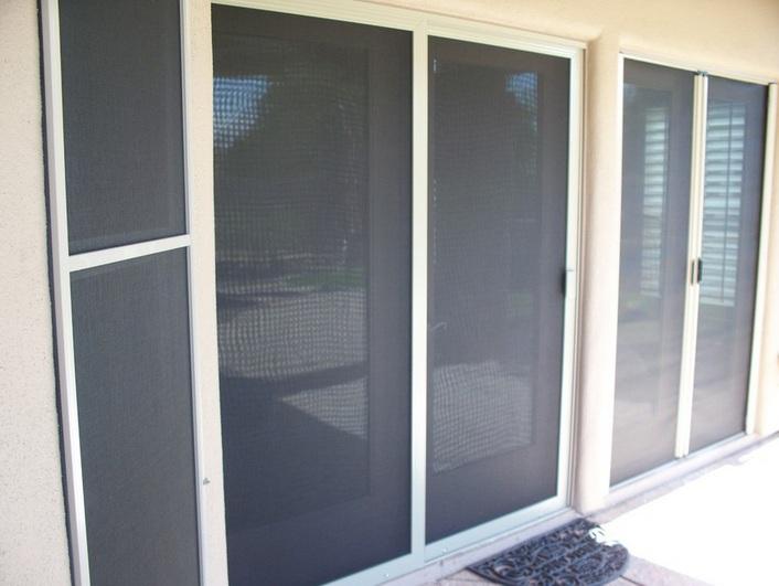 Sun control sliding screen door parts for patio door