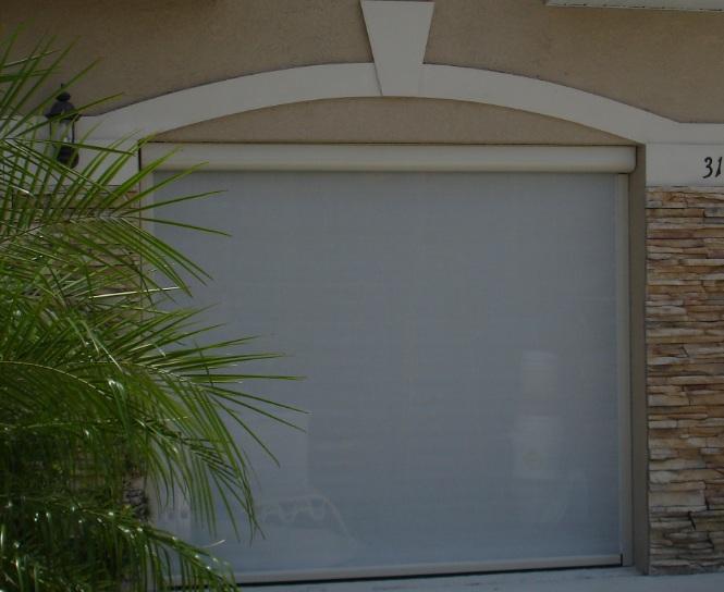 White retractable garage door screen kits for small to medium garage