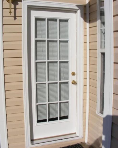 15 panel glass door with classic door handles