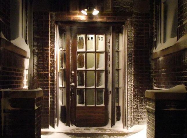 15 panel glass door with led door lighting
