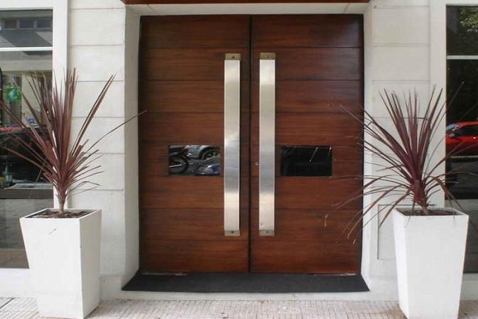 Contemporary front door designs with custom made door pulls