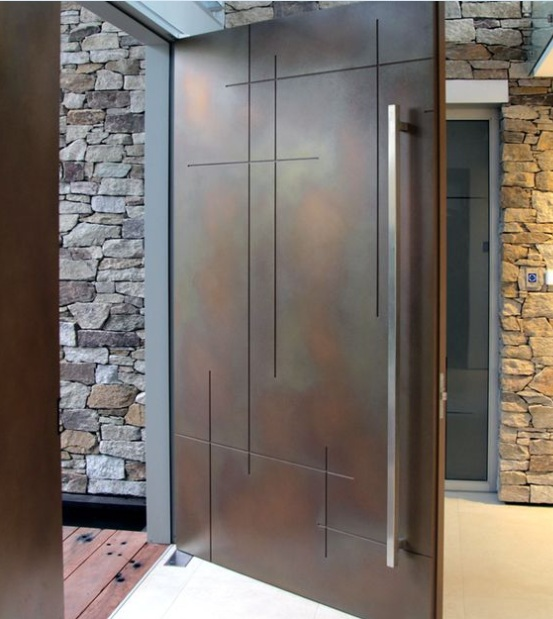 Modern Front Single Door Designs With Custom Size
