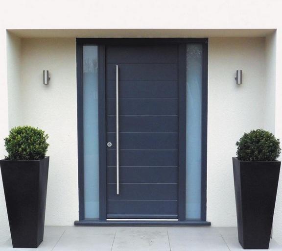 Stylish front single door designs to better your home for Modern single door design