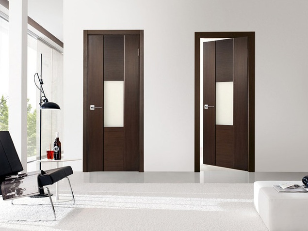 Modern two panel interior doors with smooth finish