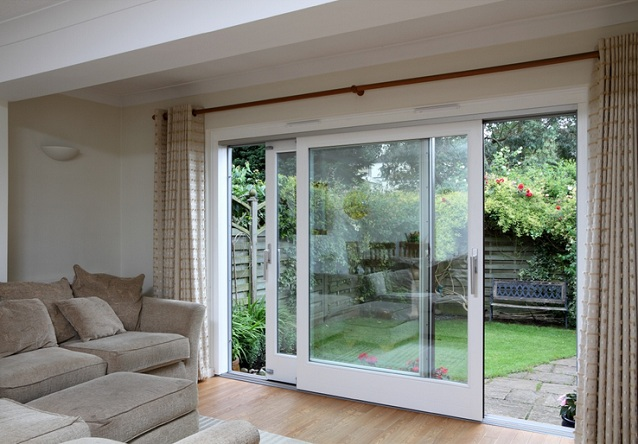 Sliding glass with wood frames balcony door design : balcony doors - pezcame.com