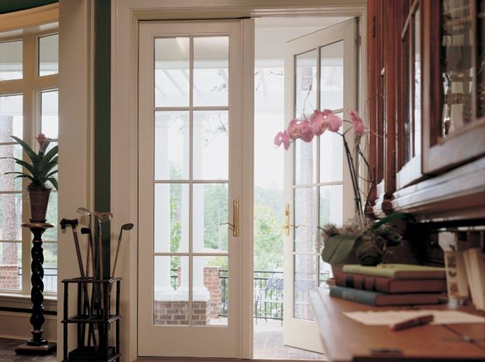 Traditional outswing balcony door design