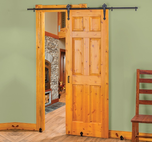 20 x 80 interior door with natural rustic sliding style
