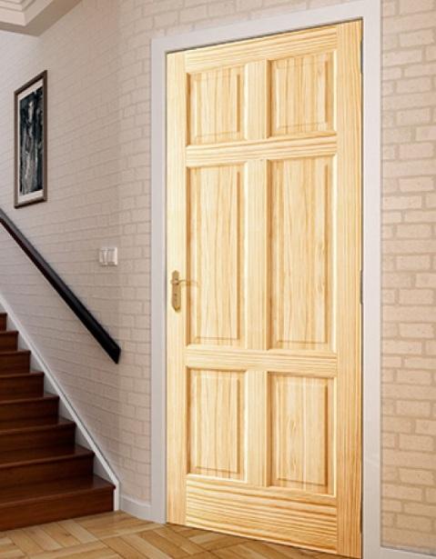 20 x 80 interior door with six panel