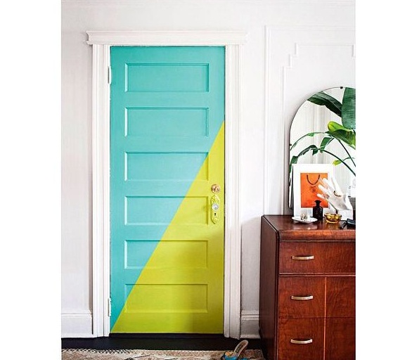 20 x 80 interior door with unique paint decorating