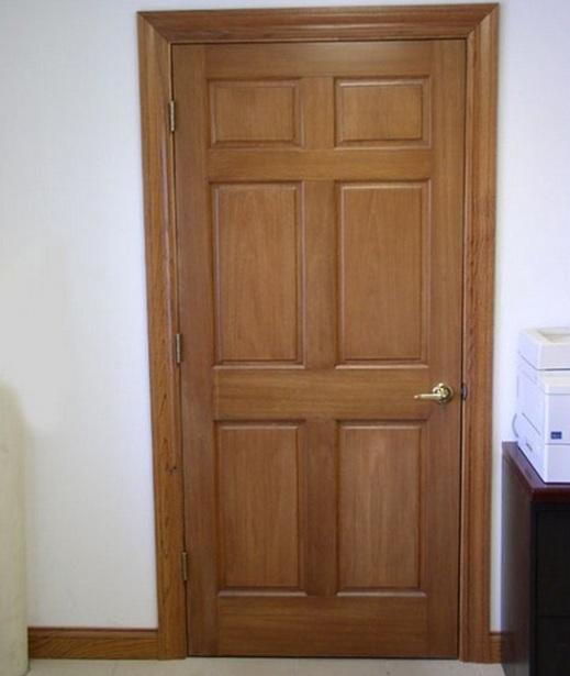 6 panel door design with solid wood mahogany for internal door