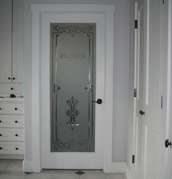 Custom Etched Glass Interior Doors Decals Ideas