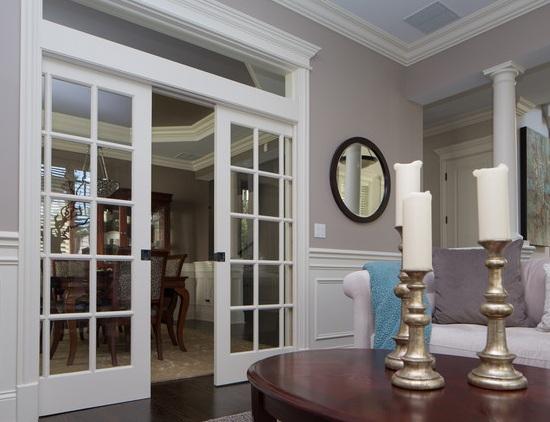 Custom interior french doors with sliding models