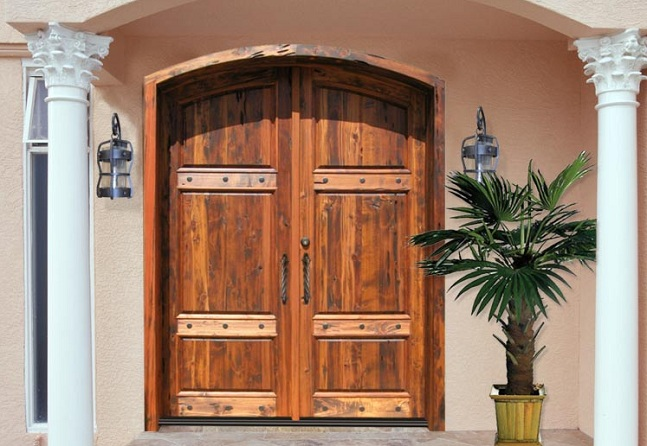Custom wood doors for exterior doors