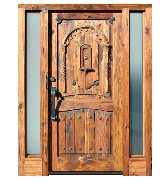 Custom wood doors with rustic style