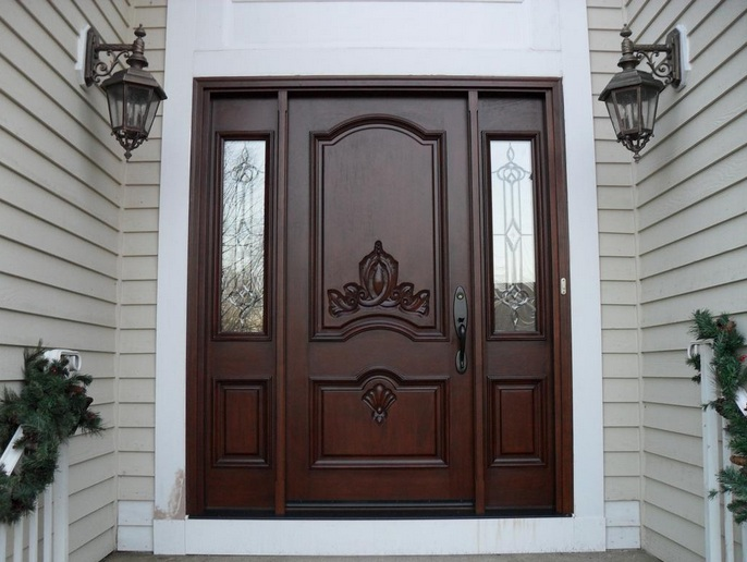 Custom wood doors with smooth finish