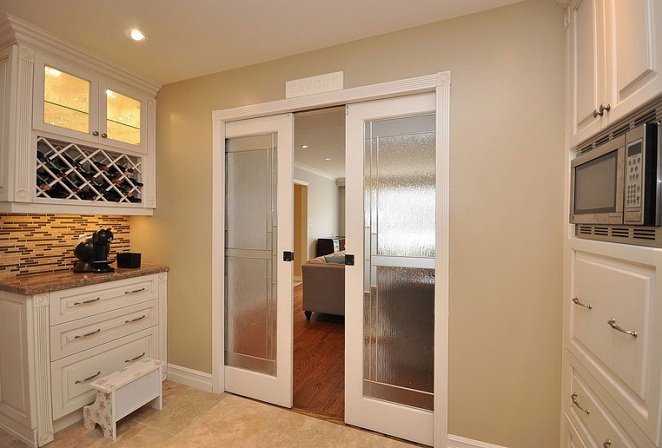 Decorative Glass Interior Doors For Kitchen