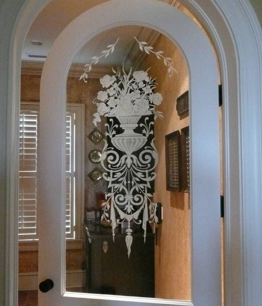 Etched Decorative Glass Interior Doors. Frosted Glass