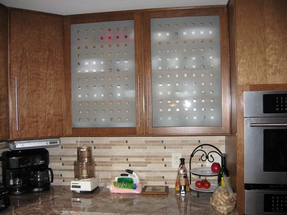 Etched Glass Kitchen Cabinet Doors Ideas Home Doors Design
