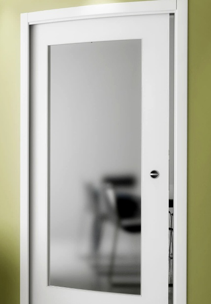 Interior Door With Frosted Glass Panel Designs And Benefits  Home Doors Design Inspiration