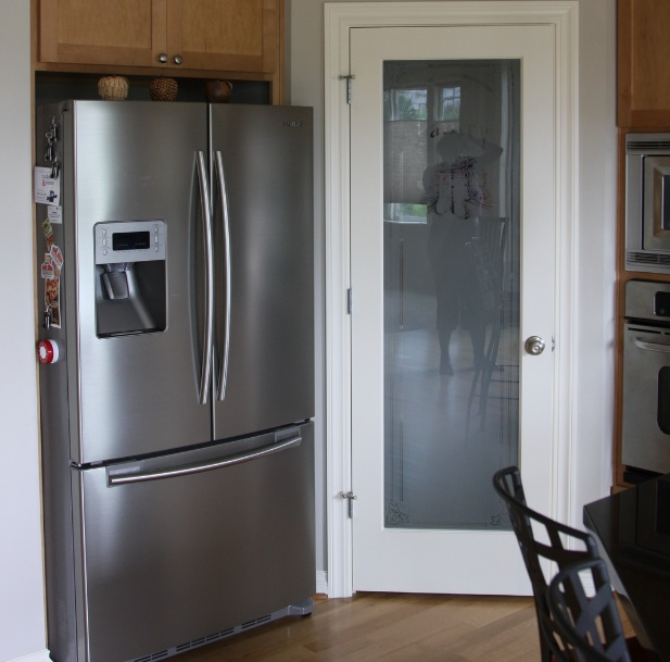 Interior french doors with decorative frosted glass for pantry doors