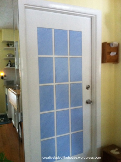 Interior single french door for kitchen
