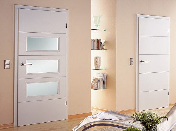 Internal White Doors With Gl For Bedroom