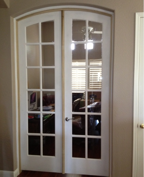 Internal white doors with glass for home ofifce