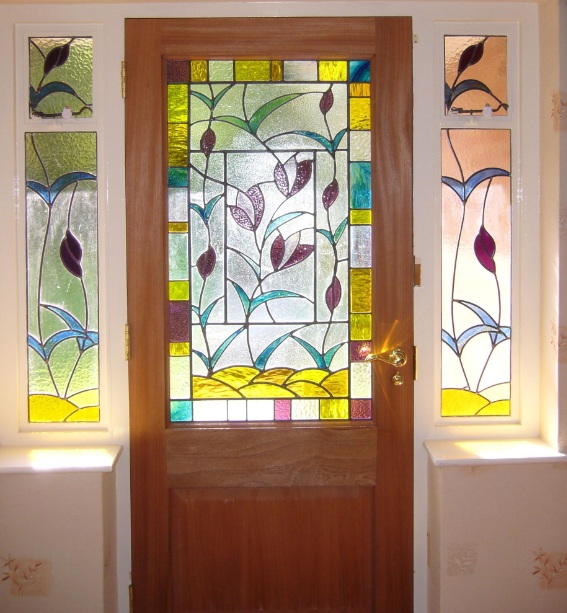 Leaf Motifs Stained Gl Designs For Doors
